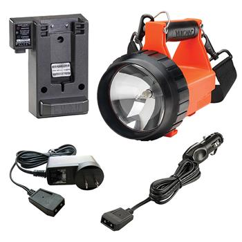 Streamlight Fire Vulcan Rechargeable Lantern with charger base and AC/DC cords