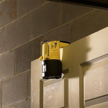 Streamlight Dualie Waypoint Spotlight conveniently hangs over doors