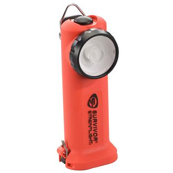 Orange Streamlight Survivor LED Rechargeable Flashlight