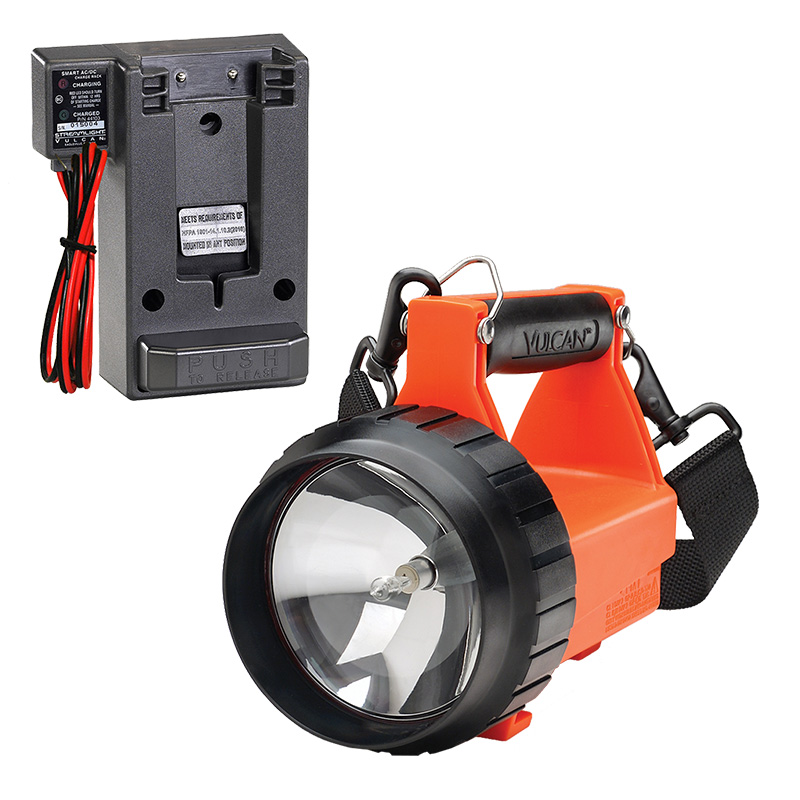 Orange Streamlight Fire Vulcan LED Rechargeable Lantern