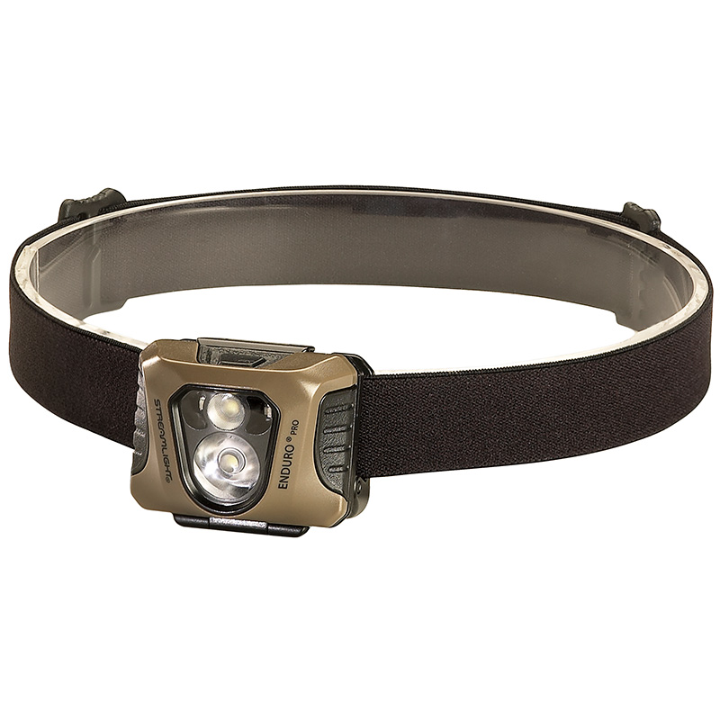Black w//Coyote Faceplate Green LED Streamlight Enduro Pro Headlamp 200 Lumens