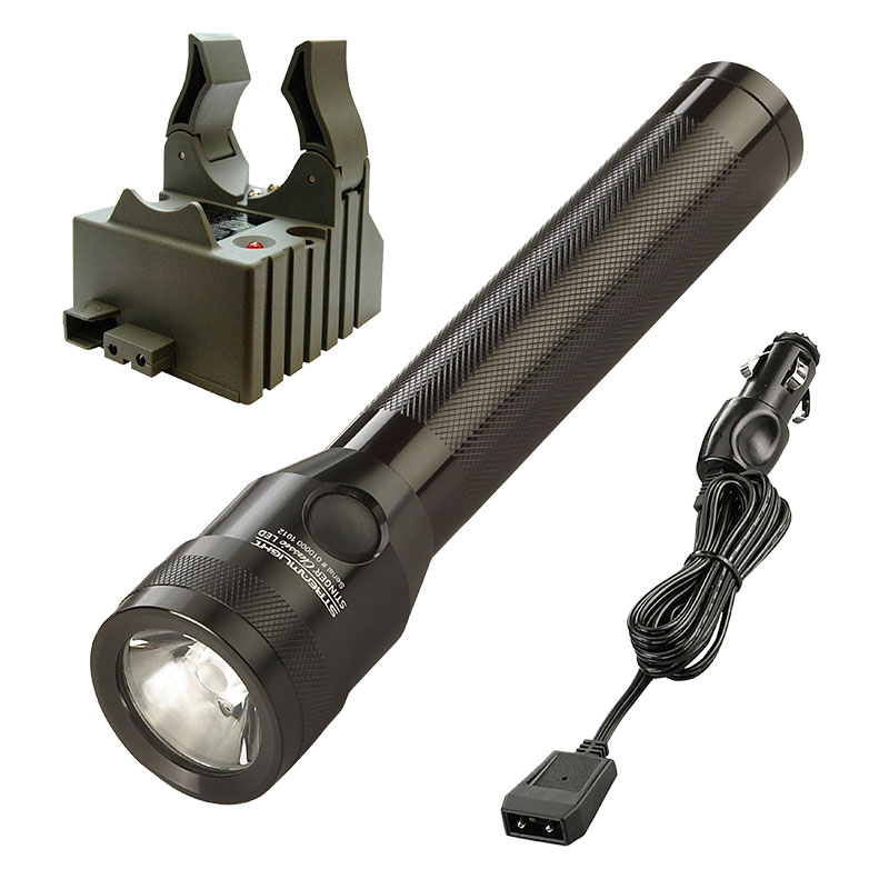 Streamlight Stinger Classic LED Flashlight with DC charge cord and one base