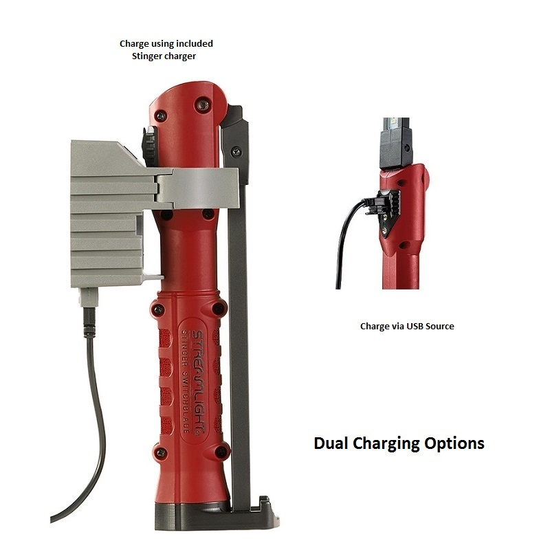 Stinger Switchblade® dual charging options
