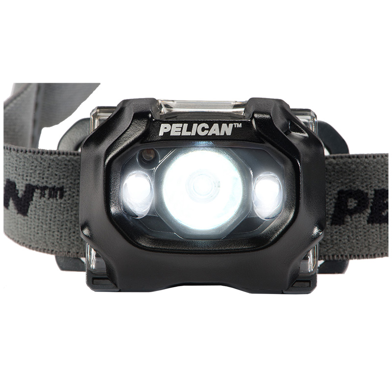 Pelican 2765 LED Headlamp three uniquely positioned LEDs