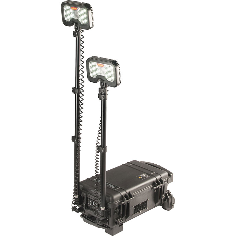 Pelican 9460M Remote Area Lighting System upright and lie flat pole brackets