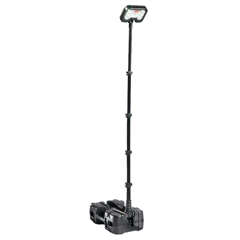 Black Pelican 9490 Remote Area Lighting System with mast deployed