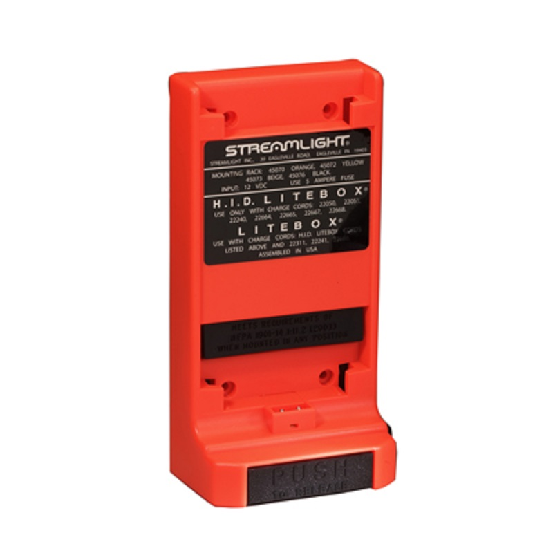 Orange Streamlight Charging Rack