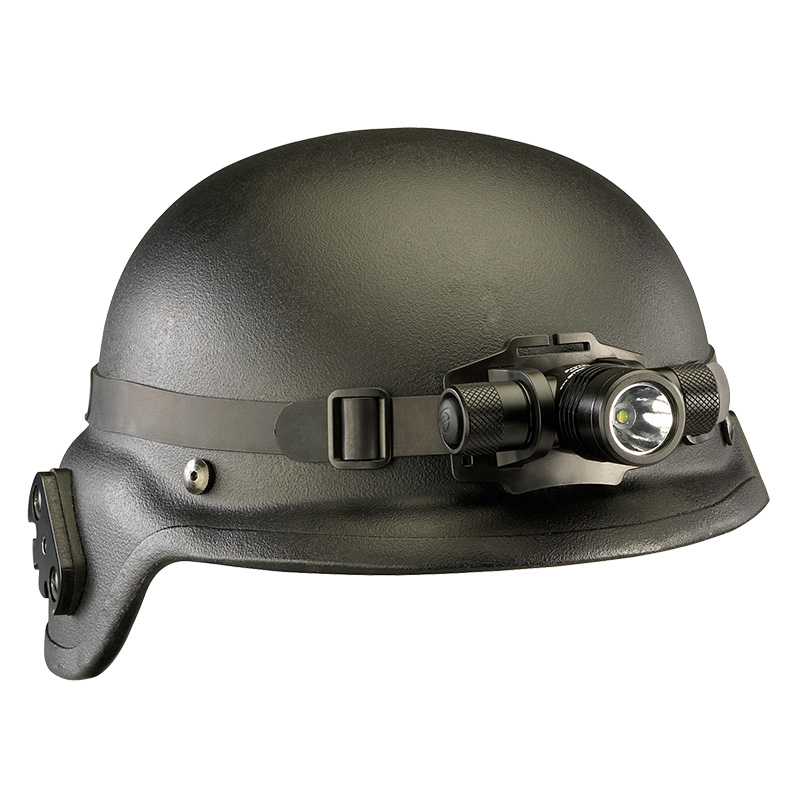 Streamlight ProTac HL Headlamp rubber strap firmlys stays in place on helmets