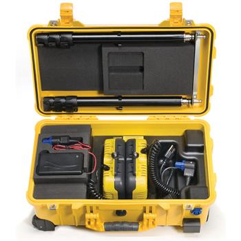 Pelican 9460M Remote Area Lighting System all components fit securely in the case