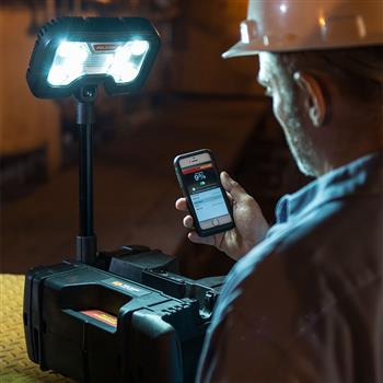 Pelican 9480 Remote Area Lighting System control multiple units with the free bluetooth app with iPhone 4S or later