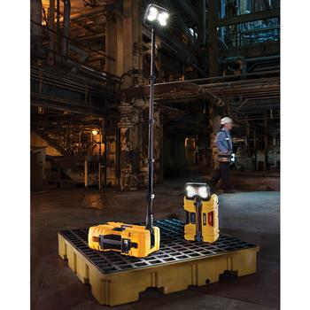 Pelican 9490 Remote Area Lighting System deploys to light a large work area