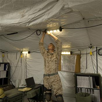 Pelican Shelter Lighting System linked together