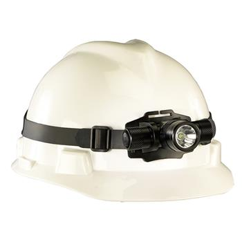 Streamlight ProTac HL Headlamp rubber strap stays in place on hard hats