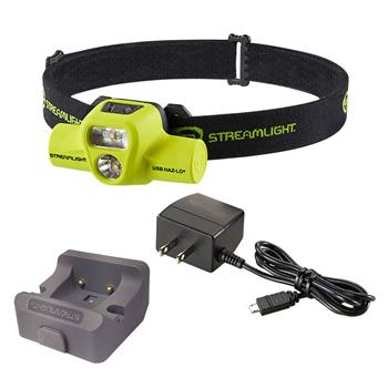 Streamlight® USB HAZ-LO® Headlamp with AC cord and charger base