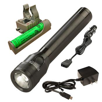Streamlight Stinger Classic LED Flashlight with AC and DC charge cords and PiggyBack base