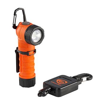 Orange Streamlight PolyTac 90X USB LED Flashlight with Gear Keeper
