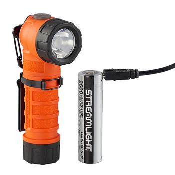 Orange Streamlight PolyTac 90X USB LED Flashlight