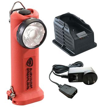 Orange Streamlight Survivor LED Rechargeable Flashlight with AC Charge Cord and 1 Base