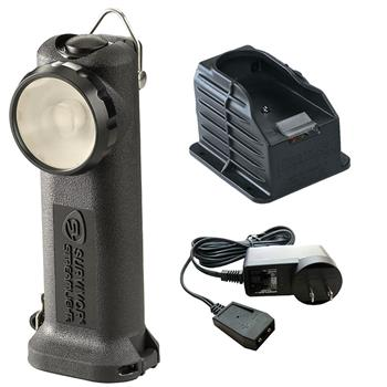 Black Streamlight Survivor LED Rechargeable Flashlight with AC Charge Cord and 1 Base