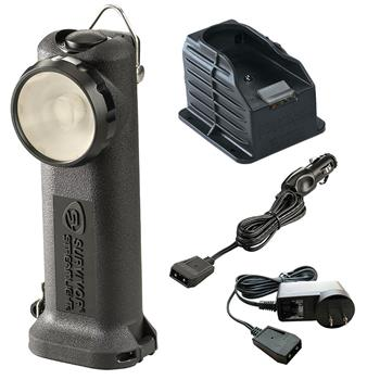 Black Streamlight Survivor LED Rechargeable Flashlight with AC/DC Charge Cords and 1 Base